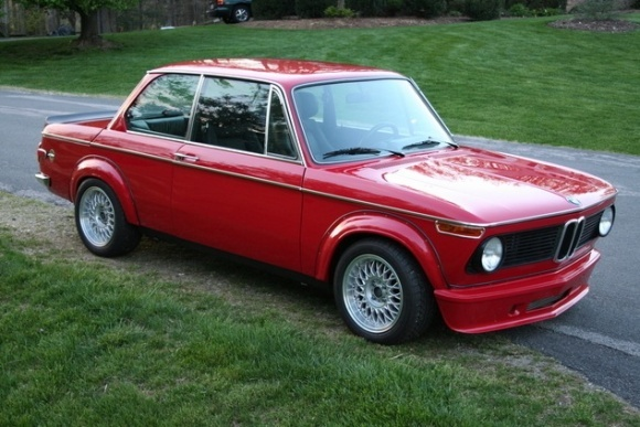 1974_bmw_2002_turbo_m20_six_cylinder_conversion_red_flares_for_sale_front