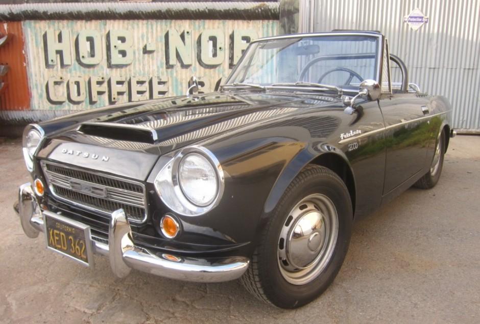 Black-Plate 1968 Datsun 2000 Fairlady Roadster | Bring a Trailer
